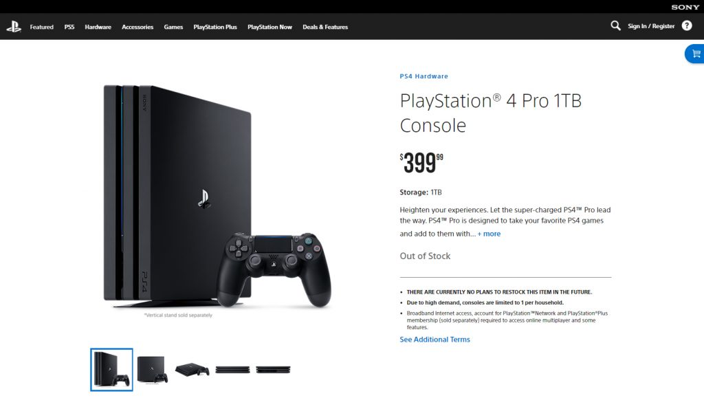 PlayStation 4 PRO on PS Direct - December 2020